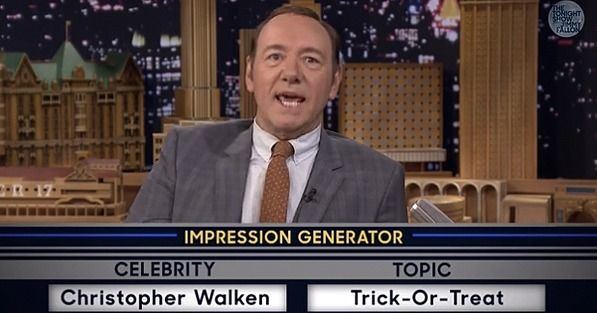 When Kevin Spacey stopped by The Tonight Show Starring Jimmy Fallon on Friday, he and Jimmy Fallon went back and forth with celebrity impressions, and Kevin's hilarious takes on people like Bill Clinton and Christopher Walken were more than a little