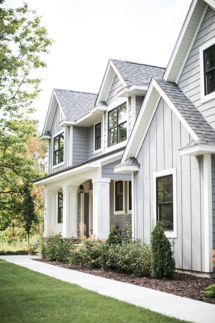 Light Gray Board And Batten Exterior Sd Custom Homes