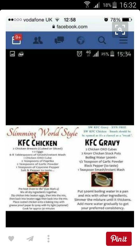 Kfc slimming world and dead tasty