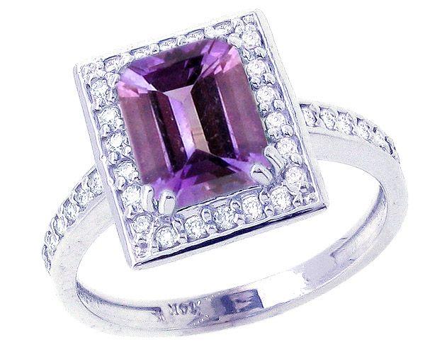 White Gemstone Engagement Rings