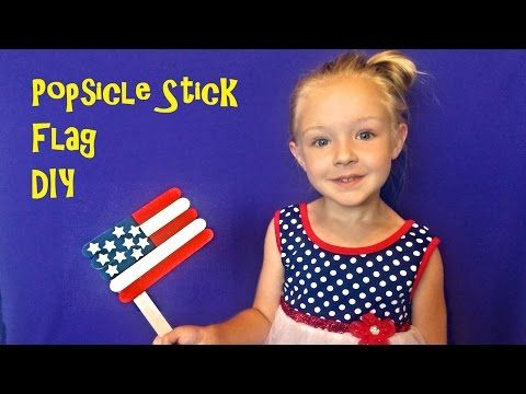 Trinity shows how to make a simple and cheap Flag for the 4th of July with painted Jumbo Craft Sticks. Please subscribe as we'll be doing many more kids …