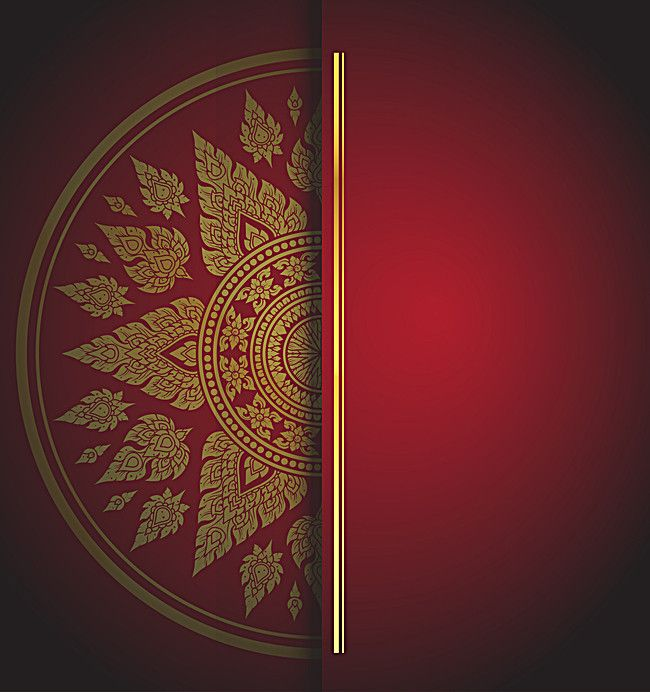 red chinese wind pattern invitation
