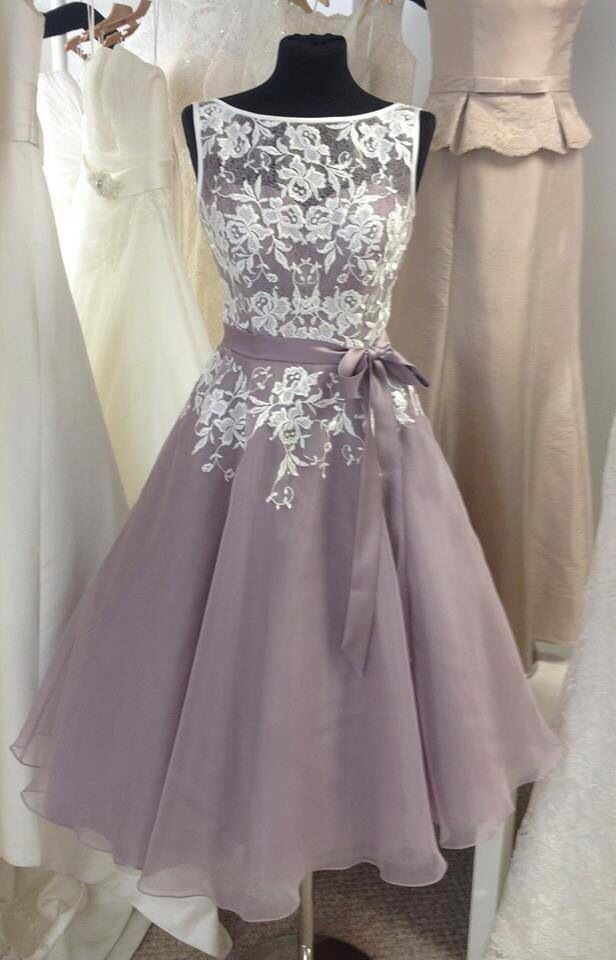 91d4a1389b Plus Size Vintage Lace Formal Bridesmaid Dresses Knee Length Prom Evening  Gowns in Clothing