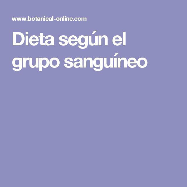 Dieta según el grupo sanguíneo