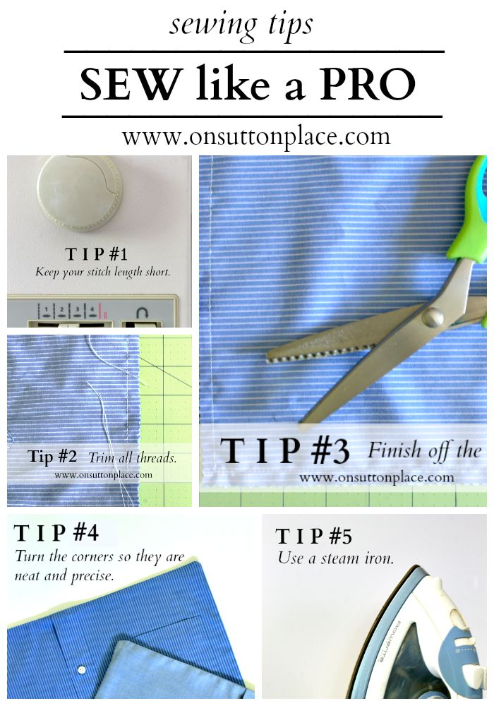 Sew like a Pro ~ tips for professional results #sewing #tips