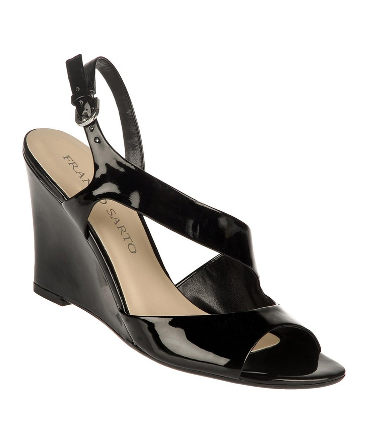 Black Gemma Wedge Sandal - Franco Sarto