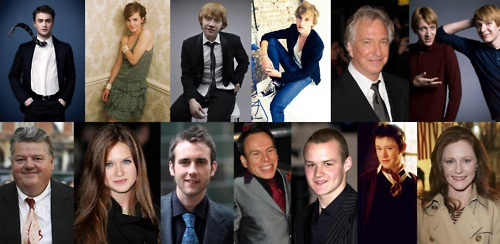 The only actors to have appeared in all the Harry Potter movies. Daniel Radcliffe, Emma Watson, Rupert Grint, Tom Felton, Alan Rickman, James & Oliver Phelps, Robbie Coltrane, Bonnie Wright, Matthew Lewis, Warwick Davis, Josh Herdman, Devon Murray and Geraldine Somerville.