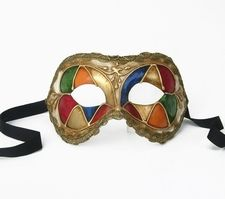 Party Mask - Harlequin Colors Ballroom Mask $79
