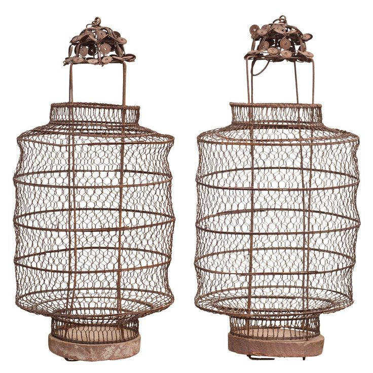 Pair of Chinese Lanterns, late 1800's | From a unique collection of antique and modern candleholders and candelabra at http://www.1stdibs.com/furniture/lighting/candleholders-candelabra/