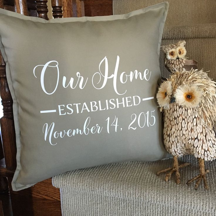 Love these Our Home pillow covers. The perfect housewarming gift