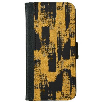 Abstract Brush iPhone 6/6s Wallet Case - pattern sample design template diy cyo customize
