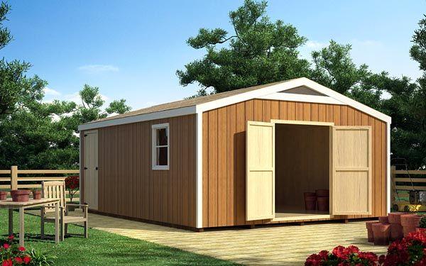 21 best images about garden sheds on pinterest for Gable garage plans