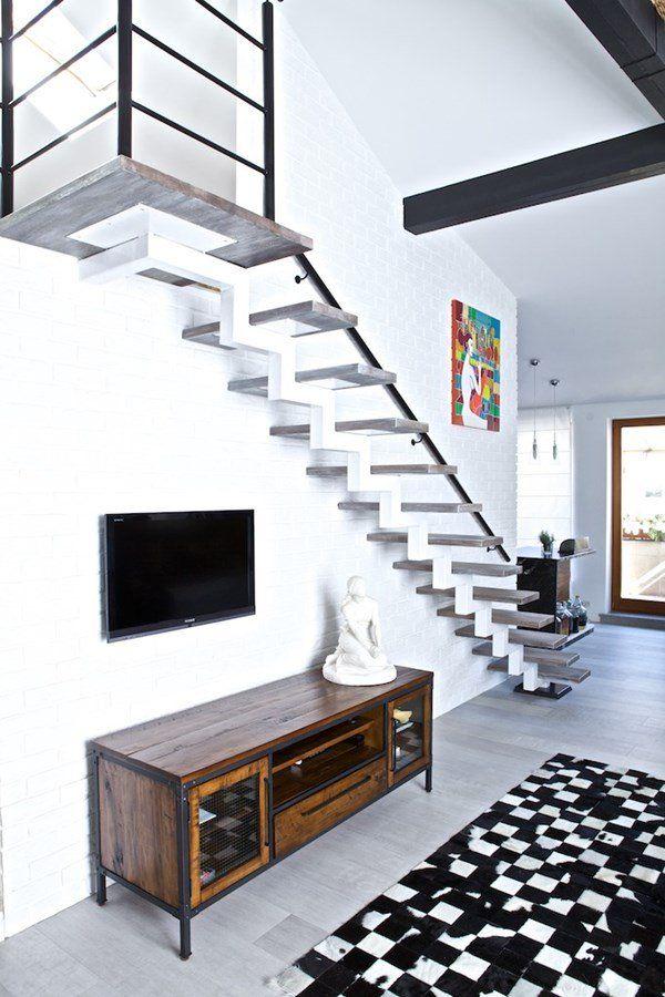 Salon na poddaszu połączony z kuchnią - Architektura, wnętrza, technologia, design - HomeSquare