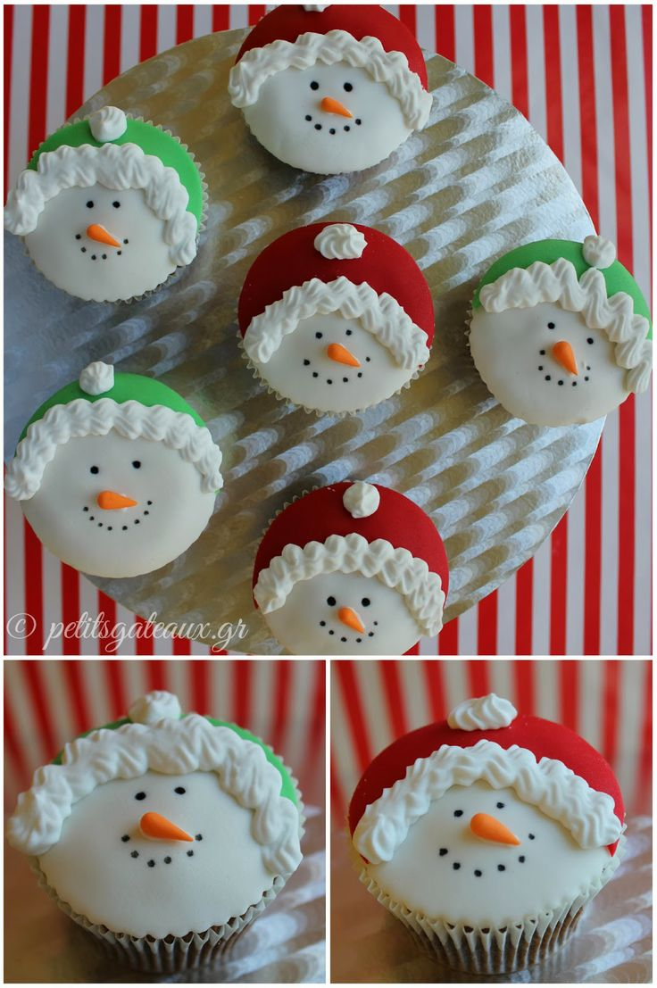 Snowman cupcakes!