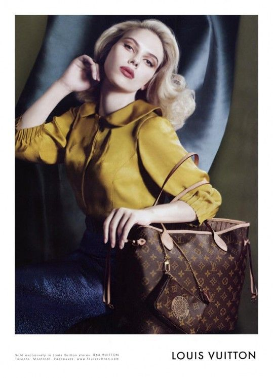 Scarlett Johansson & Louis Vuitton Monogram Neverful MM