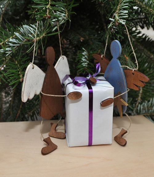 Little angels UNLIKE ANGEL Christmas decoration by MaduuDesign