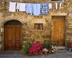 doorways with washing