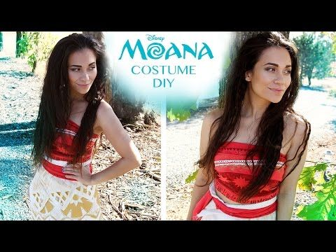DIY Easy, No-Sew Moana Costume (Disney Princess Cosplay/Halloween Tutorial) | Natasha Rose - YouTube