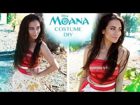 DIY Easy, No-Sew Moana Costume (Disney Princess Cosplay/Halloween Tutorial)   Natasha Rose - YouTube