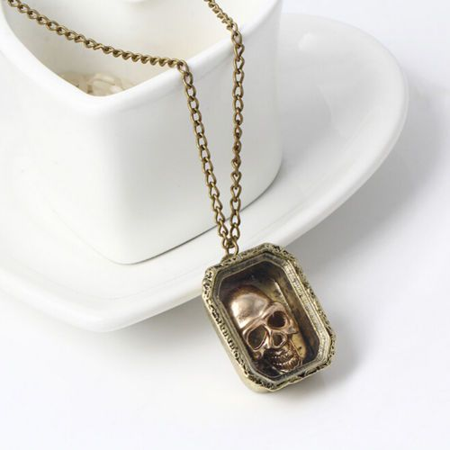 Halloween-Jewelry-Gift-Magic-Wizard-Moveable-Skull-Case-Pendant-Necklace-Chain-S