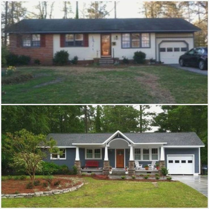 Image Result For Updated 1950 Ranch Exterior Before And After Homeremodelingbeforeandafter Ranch House Remodel Home Exterior Makeover House Paint Exterior