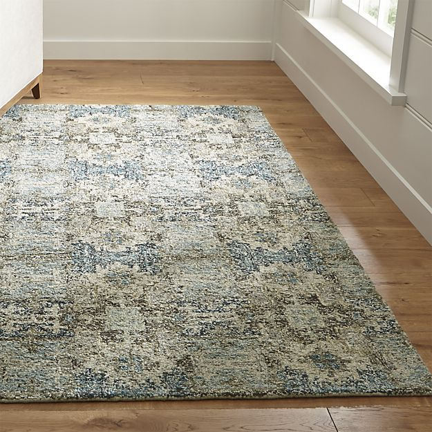This was also promising... Alvarez Mineral Blue Wool-Blend 5'x8' Rug in All Rug Collections | Crate and Barrel