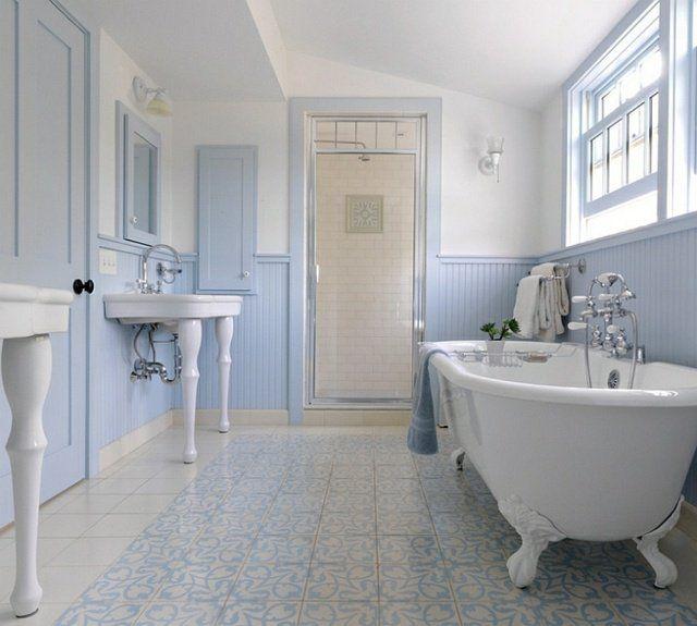 Fabulous Les 25 meilleures idées de la catégorie Salles de bains bleu clair  HB55