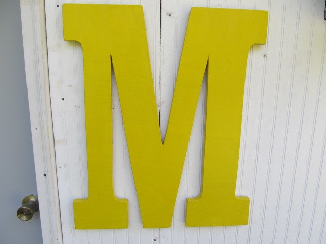 large wall letters monogram wooden initials wedding gift big wood letter m 24 inch