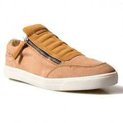 $19.77 Fashionable Men's Canvas Shoes With Zipper and Round Toe Design