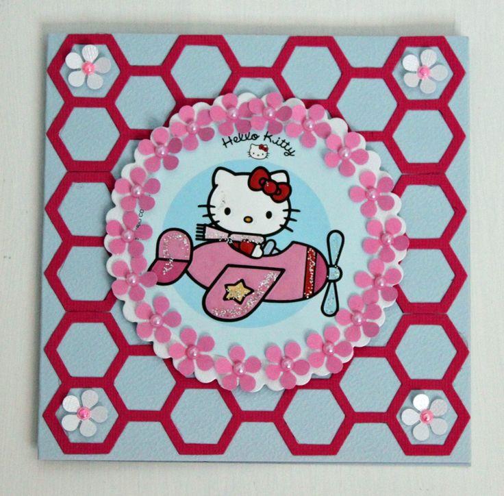 Fiskarettes Design Team - työt : Hello Kitty -kortti » Fiskarettes FI