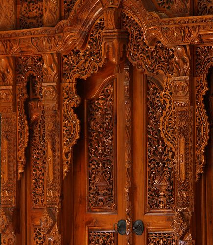Ornate Balinese Door,highly decorative in Javanese style