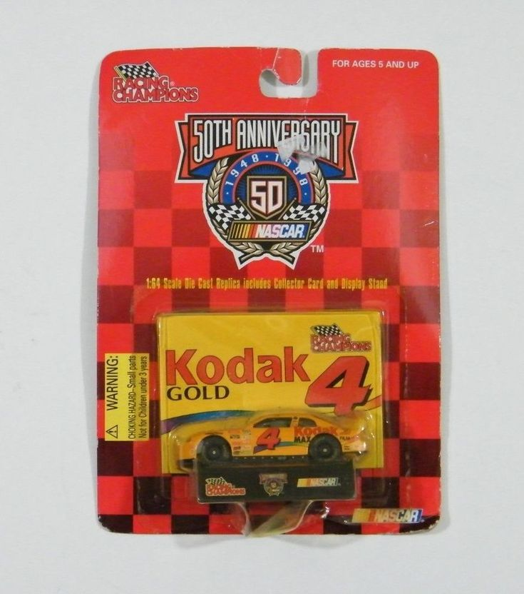 Nascar Car 50th Anniversary Kodak Gold 4 Collector Card Stand Racing Champions #RacingChampions #Chevrolet