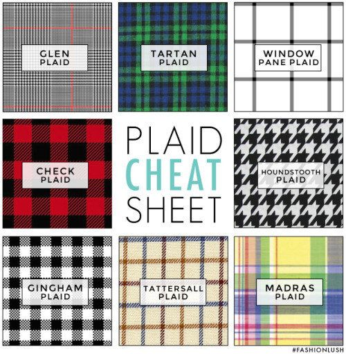 Speaking of patterns, here's a helpful guide to punchy plaids. | 25 Life-Changing Style Charts Every Guy Needs Right Now