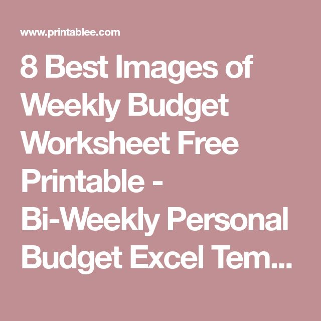Best 25+ Weekly budget template ideas on Pinterest Weekly budget - sample weekly budget