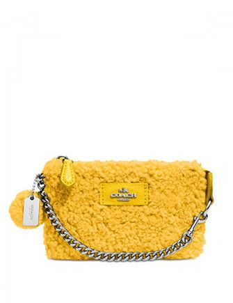Coach Nolita Wristlet 15 in Shearling Coach Nolita Wristlet 15 in Shearling