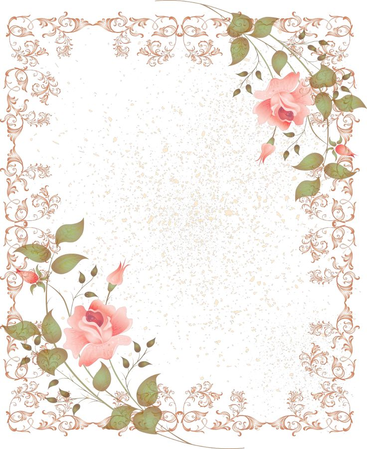 Retro-Style-Floral-Border-Picture-Frame.png (1045×1280)