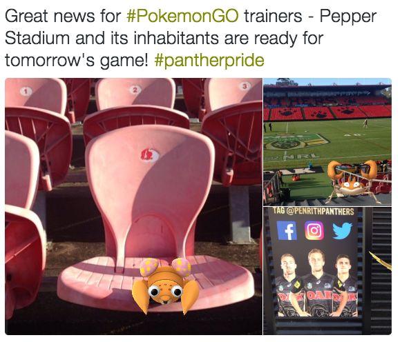 PokemonGo Penrith Panthers NRL