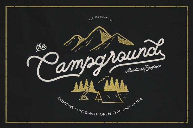 Campground Free Font Handwritten