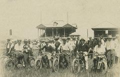 First meeting of the Cairns Motor Cycle Club at the Woree Speedway, ca. 1930   by State Library of Queensland, Australia
