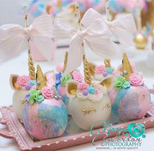 Unicorn Baby Shower Desserts TheIcedSugarCookie.com