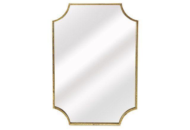 Hannah Wall Mirror, Gold $299 24x34