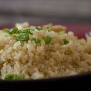 How to Cook Quinoa in the Microwave | eHow Rinse quinoa -  Place 1C Quinoa with 2C water in microwave bowl and cover loosely-  Microwave 3 mins - stir & wait 1 min - Microwave another 3 mins.  It is done when it begins to stick together, the outer white ring is visible, and spiraling apart from many of the grains If not cooked add 2tbsp water and microwave 1 min at a time Allow cooked quinoa to sit 1 min.  Done