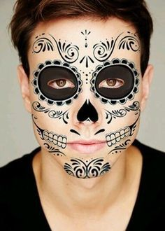 calavera face paint for men - Google Search