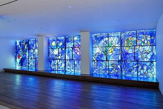 Marc Chagall windows at the Art Institute of Chicago