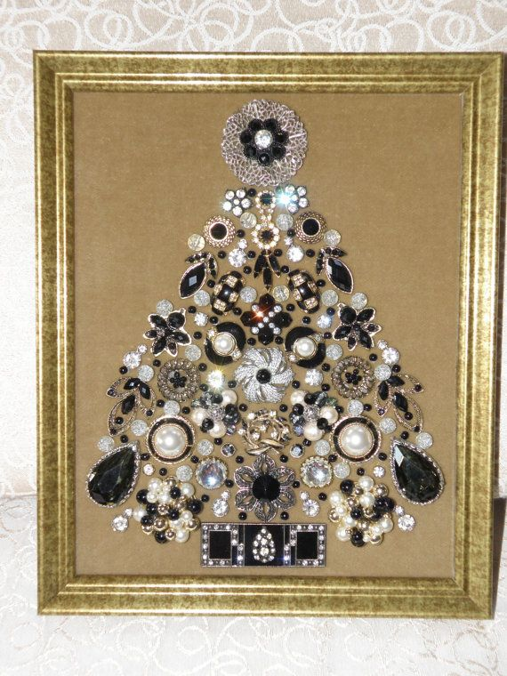 244 best Jeweled Christmas Trees images on Pinterest | Jewelry ...