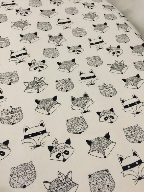 Fox crib sheet / fox cot sheet  cot / crib / Stokke by PawdaBaby