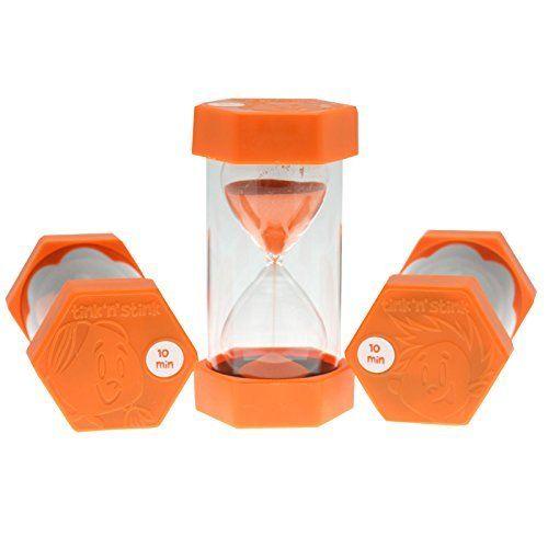 From 7.99 Tink N Stink Large 10 Minute Sand Egg Timer Orange 16cm