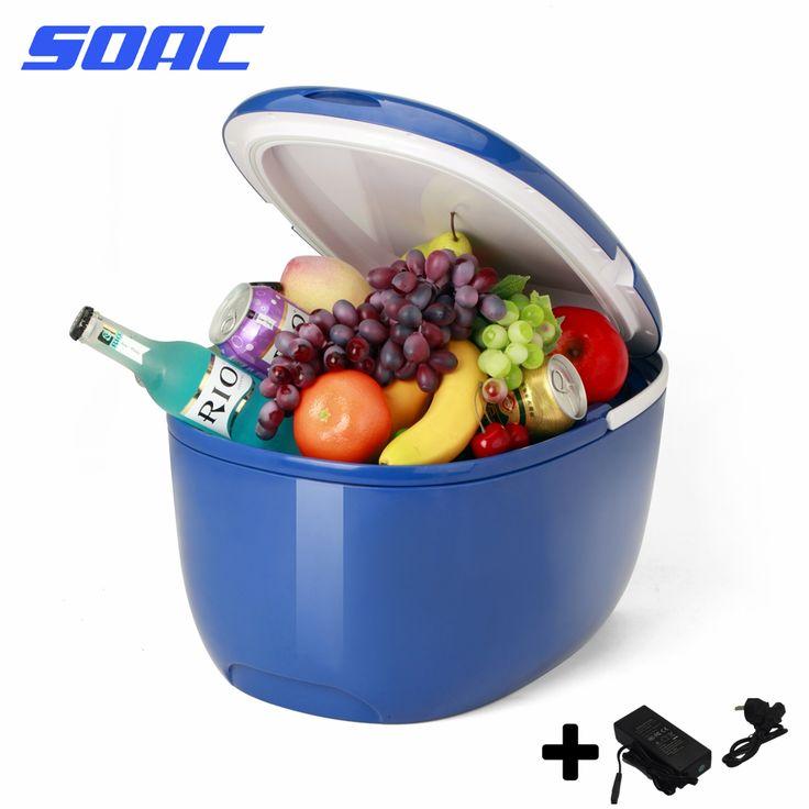 Mini Fridge No Freezer 12L 2 in 1 Freezer Cooler Warmer Electric Icebox Travel Refrigerator Cooler Box Multi-function