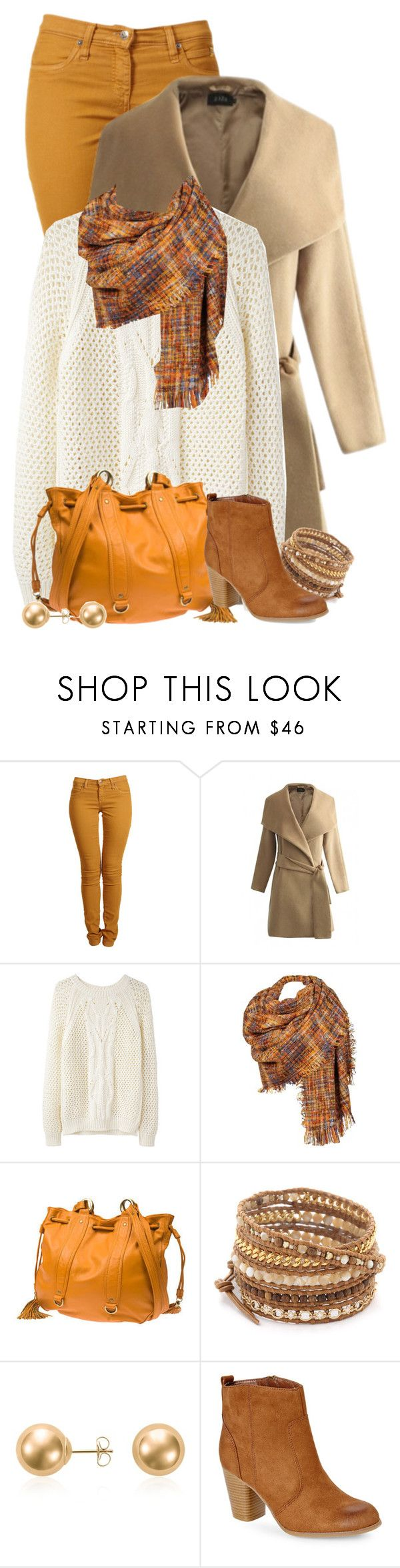 """""""Winter Mustard Jeans Outfit"""" by superstylist ❤ liked on Polyvore featuring Second, Vanessa Bruno Athé, Black Rivet, Chan Luu, Blue Nile, Madden Girl, women's clothing, women's fashion, women and female"""