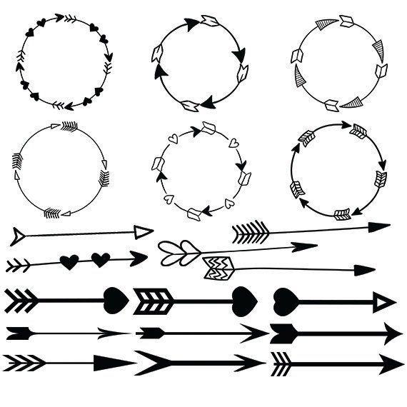 Arrow Svg Clipart Circle Arrow Vector Heart Arrow Digital Download Svg Png Dxf Eps Circle Arrow Arrow Svg Heart With Arrow
